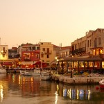 Rethymno port old town
